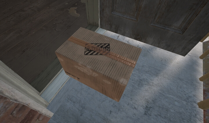 Hãy tìm và mỡ những thùng caton sẽ nhặt được một trong 3 món đồ khác nhau.