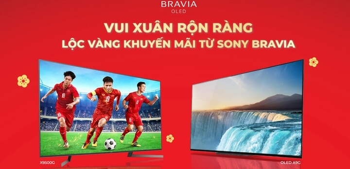 Sony tung khuyến mãi lớn cuối năm cho khách hàng mua tivi Sony Bravia