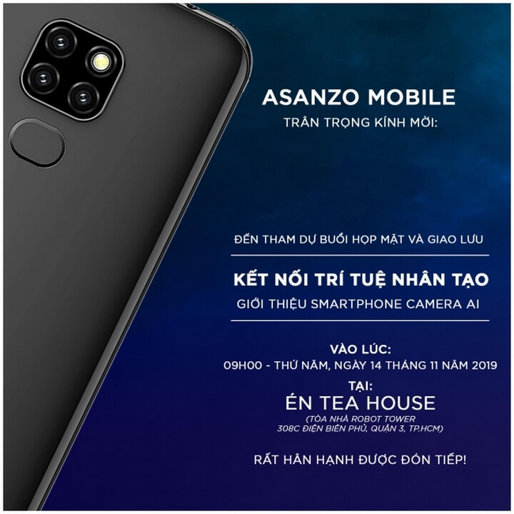 Thư mời ra mắt sản phẩm mới của Asanzo