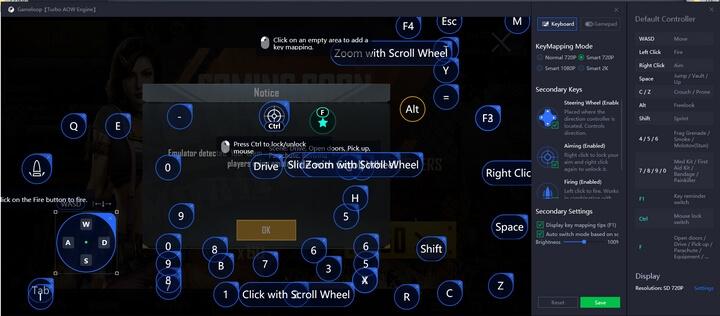 có thể tùy chỉnh lại phím điều khiển game