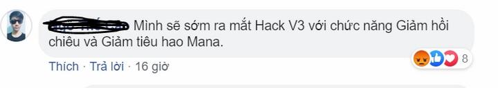 Mới đây nhất thanh niên này còn mạnh miệng tuyên bố sẽ cho ra mắt bản Hack V3.