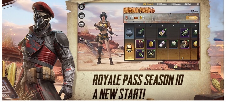 Royale Pass Season 10: Fury of the Wasteland