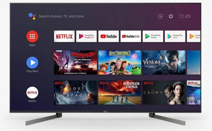 Một mẫu TV chạy Android TV của Sony