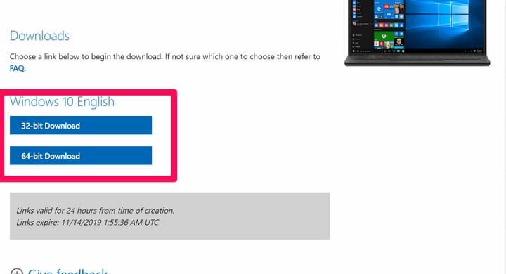 Link dowload Windows 10 19H2 (1909)
