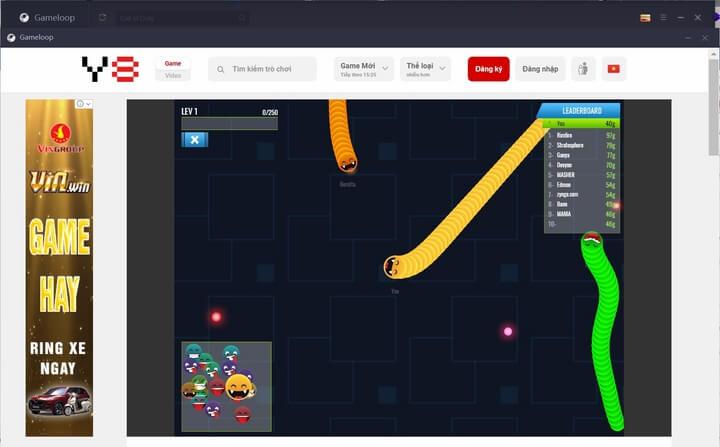 Cách chơi game Y8 trên trình giả android GameLoop