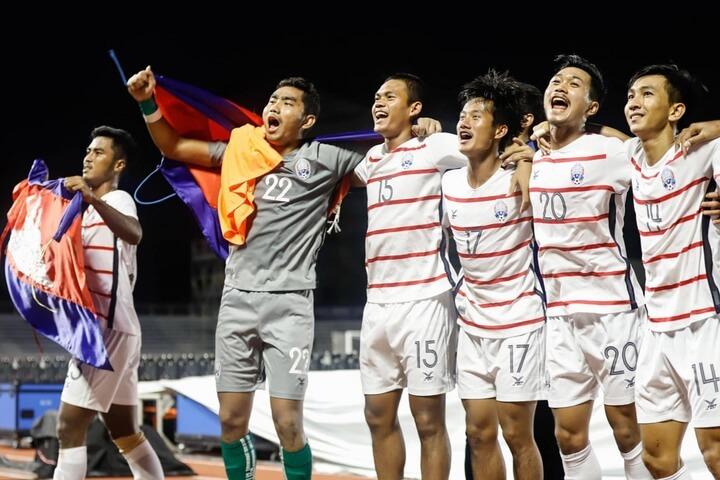 U22 Campuchia lại có màn thể hiện ấn tượng tại sea games 30